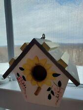 Handpainted Mini sunflower birdhouse