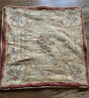 "Vintage Victorian Romantic Floral  Roses TAPESTRY Euro PILLOW Sham 26""x 26"""
