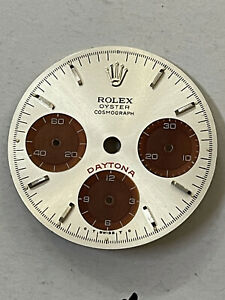 Dial Refinished Silver- Black for Daytona Oyster Cosmograph Big Red  6263-6241