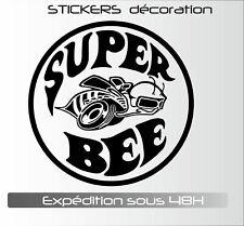 super bee  20 cm - autocollants Stickers adhésifs pour voitures