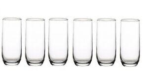Lav Sude Highball Drinking Glasses Set. Pack of 6 Water Juice Tableware Glass.