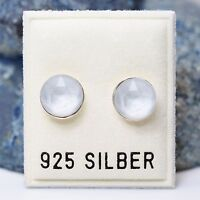 NEU 925 Silber OHRSTECKER 8mm SWAROVSKI STEINE powder grey/grau OHRRINGE