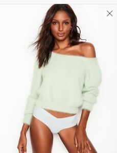 NEW Victoria's Secret Misty Jade Fuzzy Sweater size MEDIUM