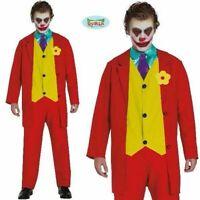 Mr Smile Mens Joker Costume Adult Superhero Villain Halloween Film Fancy Dress
