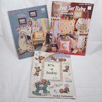 Cross Stitch Pattern Book Lot Nursery Art New Baby Gift Chart Sugar Plum Fairy
