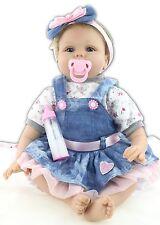 "22""Handmade Real Looking Reborn Baby Dolls Vinyl Silicone Realistic Newborn Baby"