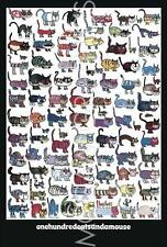 """VITTORIO - 100 CATS AND A MOUSE - ART PRINT POSTER 35.75"""" X 24.25"""" (8)"""