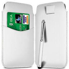 Ranura para tarjeta Pu Cuero tire Flip Tab Funda + Stylus Pen Para Teléfonos Nokia