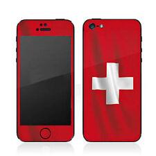 """iPhone SE 5 5S Skin """"SCHWEIZ  FLAG"""" Sticker Aufkleber Skins Designfolie Folie"""