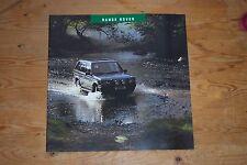 Range Rover P38 accessoires brochure Menthe-Nouveau