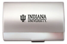 new IU Indiana University Hoosiers ENGRAVED BUSINESS CARD CASE holder gift box