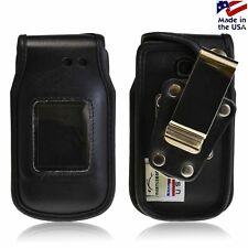 LG A340 Turtleback HD Black Leather Case