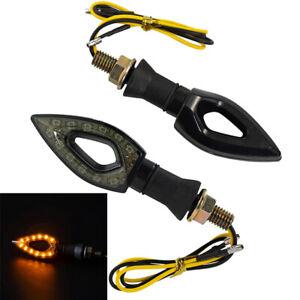 2pcs LED Turn Signal Lights Universal For Motorcycle ATV Indicator Blinkers Lamp