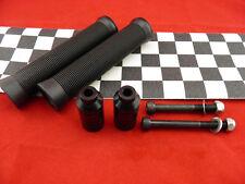 Black Scooter Grips + Firewheel-inc Black Grind Pegs +  White / Black Grip Tape