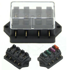 Fuse Holder Box 4 Way Car Vehicle Circuit Automotive Blade Block Holder
