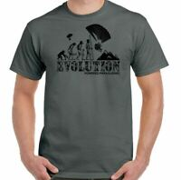 Powered Paragliding T-Shirt Evolution Mens Funny Paraglider Para Glider Engine