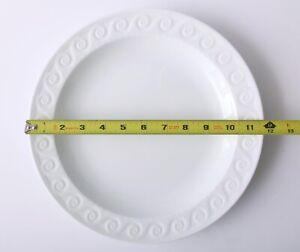 "Set of 3 Bernardaud LOUVRE 11 3/4"" Flat Round Dish Plates Limoges France White"
