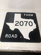 Authentic Retired Texas Farm Road 2070 Highway Sign Baylor County