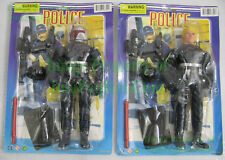 "NITF STAR WARS Bootleg 10"" Boba Fett & Luke Skywalker in Police Riot Gear MOC"