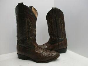 Custom Made Alligator Leather Vintage Cowboy Western Boots Mens Size 8.5 EE