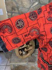 Diplomat Vintage Smoking Jacket 60s Asian Inspired Robe Lounge Jacket Large Red