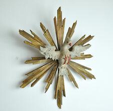 Heiliggeisttaube Taube heiliger Geist Holz geschnitzt 44 cm barock Heiliggeist