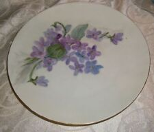 """Beautiful Floral Plate By Bavaria, Germany - Gold Trim, 7 1/2"""""""