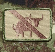 I TAKE NO BULLSHIT ARMY MORALE TACTICAL MULTICAM VELCRO® BRAND FASTENER PATCH