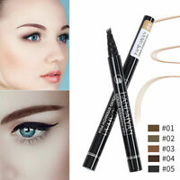 Waterproof Microblading Tattoo Eyebrow Ink Pen 4 Forks Liquid Eye Brow Pencil