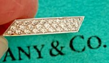 AUTHENTIC TIFFANY & CO FRANK GEHRY 18K WHITE GOLD & DIAMOND TORQUE RING - SIZE 4