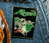 Vintage NOS Poison enamel pin retro 80s whiskey poker gun hair band hard rock :)