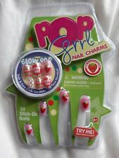 BRAND NEW - STICK ON NAILS - no glue - Kid size - Lightly Strawberry Scented