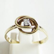 Ring Gold 585 Brillant 0,05 ct Goldringe 14 kt. Diamanten Edelsteine