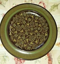 8 Franciscan Madeira Brown and Green Floral Scroll Salad Plates 8.5""