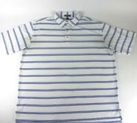 Peter Millar Mens XL Summer Comfort Men Golf Shirt Short Sleeve White Striped
