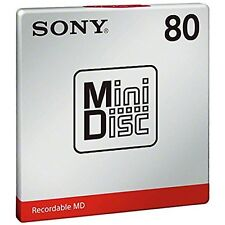 New! 1 Sony Md80 Blank Mini Disc 80 Minutes Recordable Md Japan Genuine