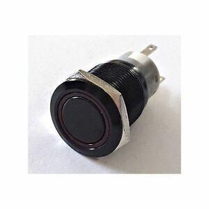 SW1912M-H-R 19mm Vandal Resistant Illuminated (Red) Momentary Switch
