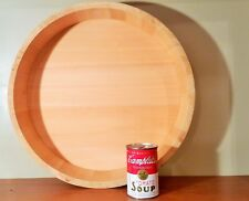 16.75 SUSHI rice tub wood copper banded rings japanese chinese food cooking bowl