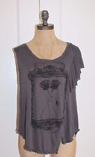 Free People Top FP WE THE FREE ROSES PRINT ONE CAP SLEEVE SHIRT SZ XS