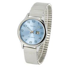 Elegante Damen Funkarmbanduhr (deutsches Funkwerk) Edelstahl Armbanduhr 964.4905