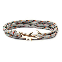 Shark Bracelet Viking Jewelry Rope Wristband Survival Chain Anchor Paracord Gift