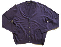 Brooks Brothers Purple Italian Merino Wool Cardigan Large 💫