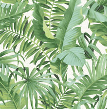 Tropical Green Palm Leaves Wallpaper