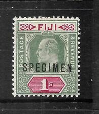 FIJI  1903  1/-   KEVII  SPECIMEN   MLH    SG 112s