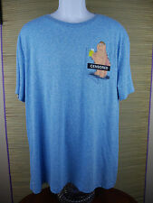 NWT NEW Authentic FAMILY GUY Censored Uncensored Shirt Pocket Blue XXL 2XL B3