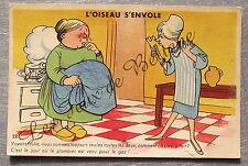 Carte postale vintage Humour enciente plombier Gaby editeur     postcard