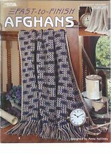 FAST-TO-FINISH AFGHANS ~ 6 Designs to Crochet Leisure Arts #3586 Anne Halliday