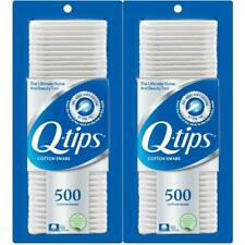 Q-tips Cotton Swabs  Pure Cotton Tip 500 Count (Pack Of 2)