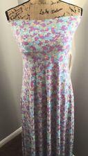 NWT LulaRoe Maxi Skirt Dress  XS Pastel Floral Multi Color Aqua Purple Yellow