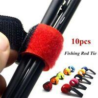 10X Extérieur Serrage Pêche Canne Cravate Accessoires Batterie Sangles Outil